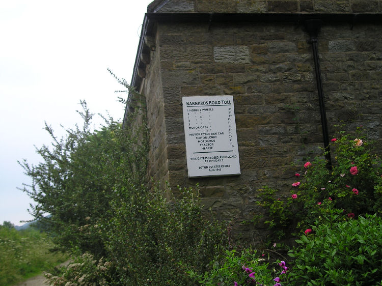 Toll prices on the path to Grosmont