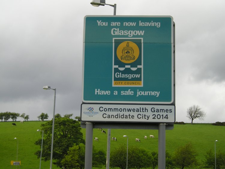 Leaving Glasgow - 2 miles before Milngavie