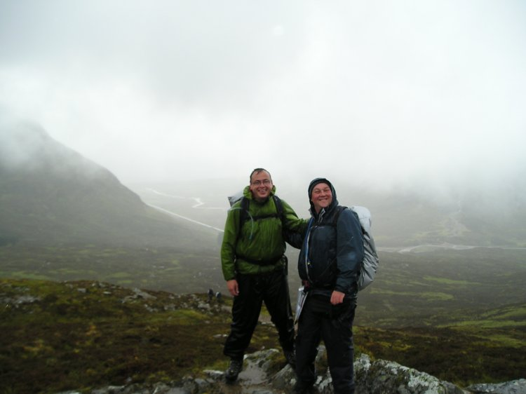 Dale and me on top after the climb up the Devils Staircase