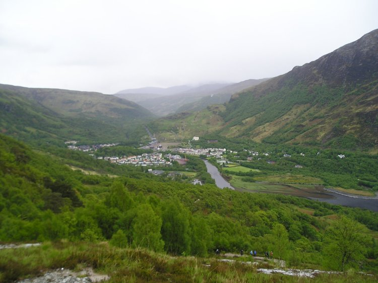Looking down onto Kinlochleven