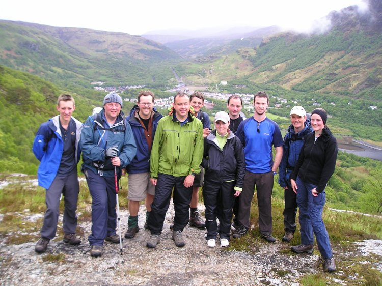 Teams Beer, taxi and parafin reunited at top of climb out of Kinlochleven