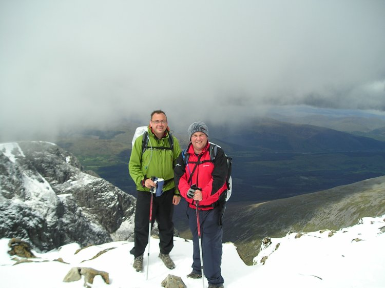 Dale and me at top